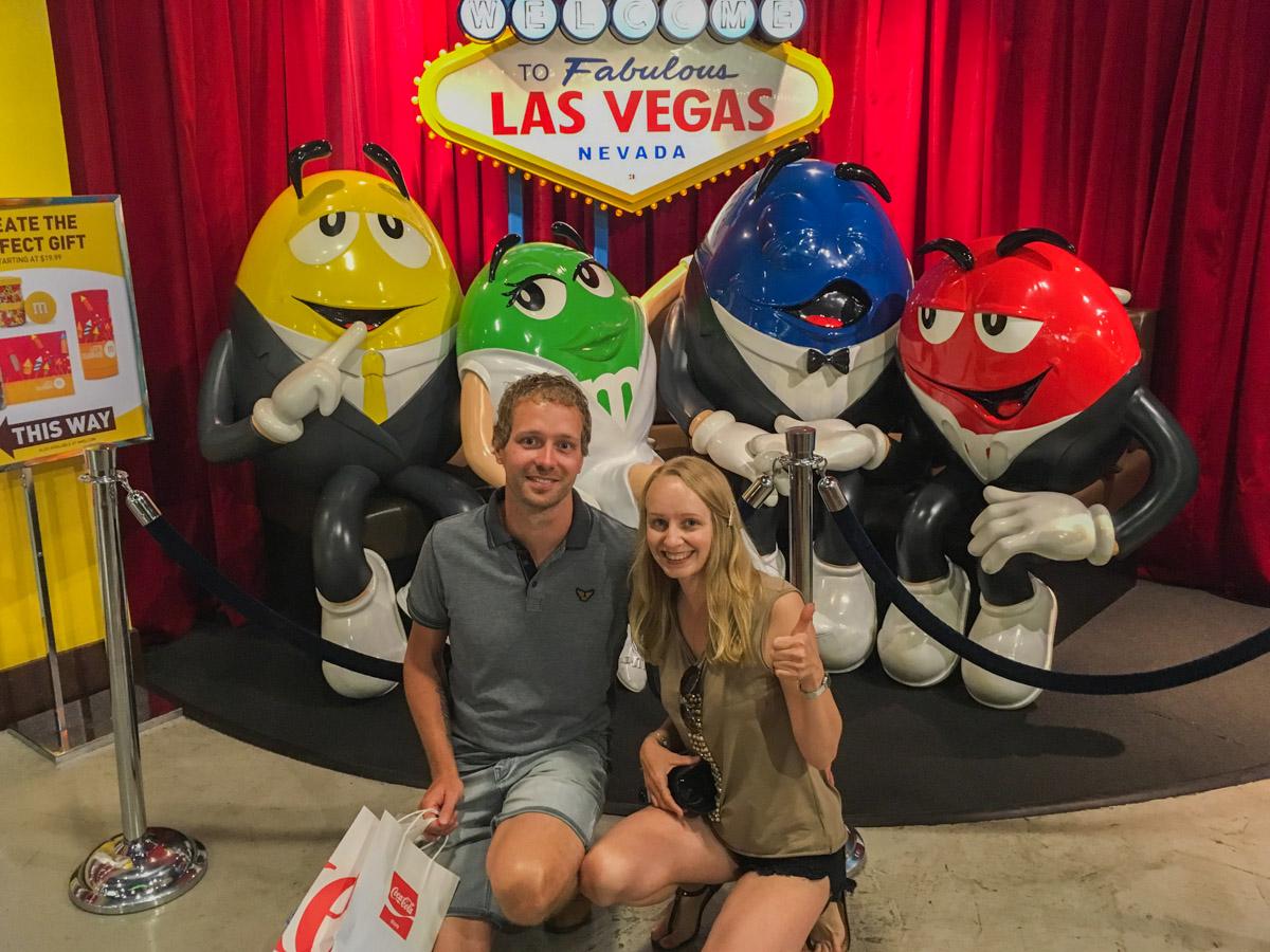 Las Vegas. Miasto grzechu. Sklep M&M. Strip